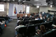 Rueda de prensa posterior al Consejo de Ministros del pasado 8 de marzo.
