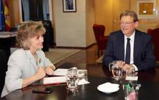María Luisa Carcedo se ha reunido con Ximo Puig en la sede del Ministerio.