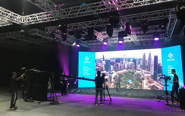 Plató híbrido para convenciones en Kuala Lumpur