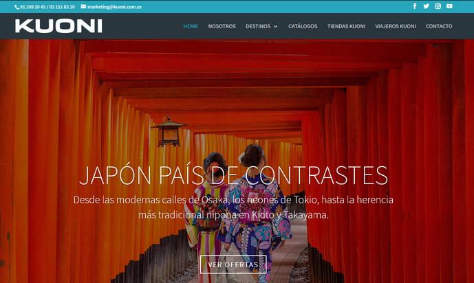 Kuoni España lanza una nueva web 'más visual e intuitiva'
