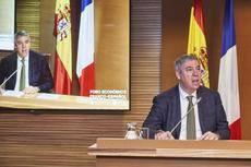 José Vicente de los Mozos, presidente de Ifema, en el evento de La Chambre
