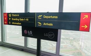 LG presenta una nueva pantalla para señalética