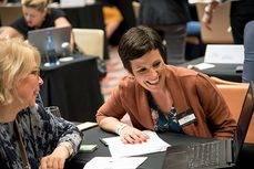 Montse Belisario, en una de las acciones promocionales con el mercado británico.