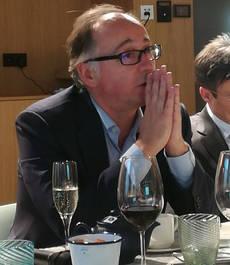 El presidente de Iberia, Luis Gallego, en un encuentro con los medios de comunicación.