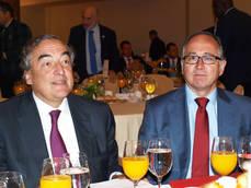 Luis Gallego y Juan Rosell, en el acto organizado por CEOE y CEPYME.