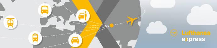 Lufthansa agrupa todas las opciones de transporte desde y hacia el aeropuerto bajo una marca.
