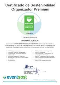 La certificación Premium de Eventsost.