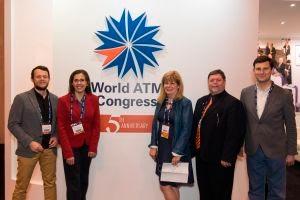 Representantes del World ATM Congress y Madrid Convention Bureau.