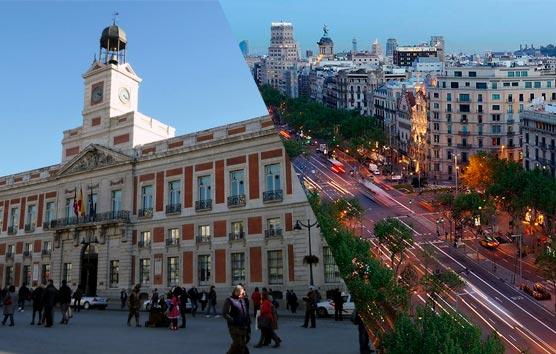 Sol en Madrid y l'Eixample en Barcelona, los barrios más demandados en España