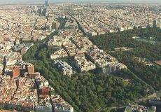 Vista aérea de Madrid.