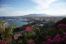 Imagen aérea de la ciudad de Málaga.