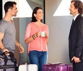 Lufthansa ofrece en Barcelona facturar la maleta desde casa