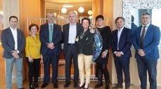De izquierda a derecha, Marcos Iriondo, Ana Hecht, Jesús Cuartero, Martín Adrover, Marisa Lazzarotto, Marga Méndez, Ramón Vidal y Francisco Serrano.