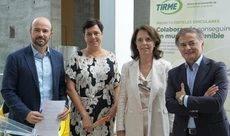 El director general de Tirme, Rafael Guinea; la gerente de Agromallorca,  Isabel Mª Vicens; la vicepresidenta de RSC de Meliá, Lourdes Ripoll; y el director del Palacio de Congresos de Palma, Ramón Vidal.