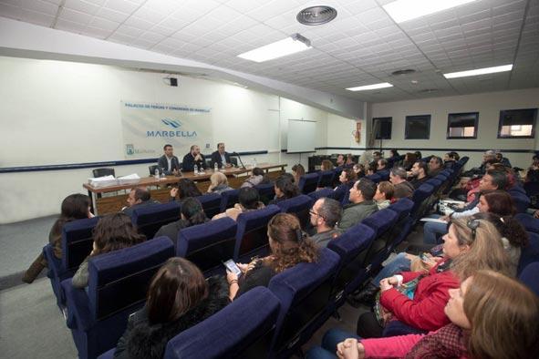 El Palacio de Marbella acoge un acto por el empleo en la ciudad