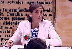 La ministra Reyes Maroto, en su comparecencia en el Senado.