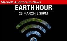 Marriott Auditorium se apaga durante la Hora del Planeta