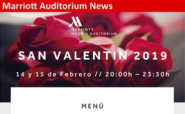 El San Valentín más romántico en Marriott Auditorium