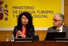 Matilda Asián y Manuel Butler en la presentación de las previsiones.