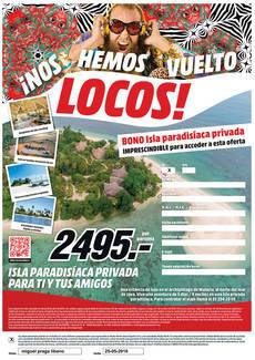 La empresa vende viajes a una isla privada.