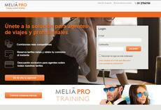La cadena pone a disposición de los agentes de viajes el 'portal' Meliá Pro.