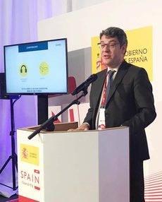 El ministro de Turismo, Álvaro nadal, en el Mobile World Congress.