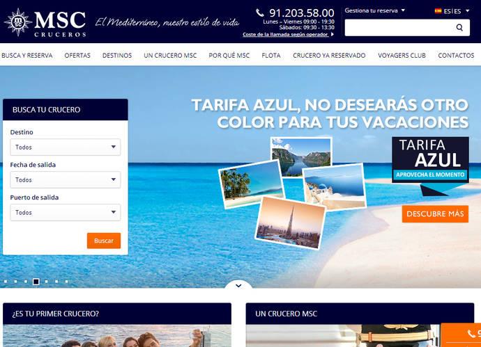 MSC mejora el diseño y amplía el contenido de su web