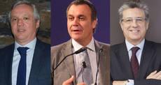 Desde la izquierda: Carlos Garrido, Rafael Gallego y Martí Sarrate,
