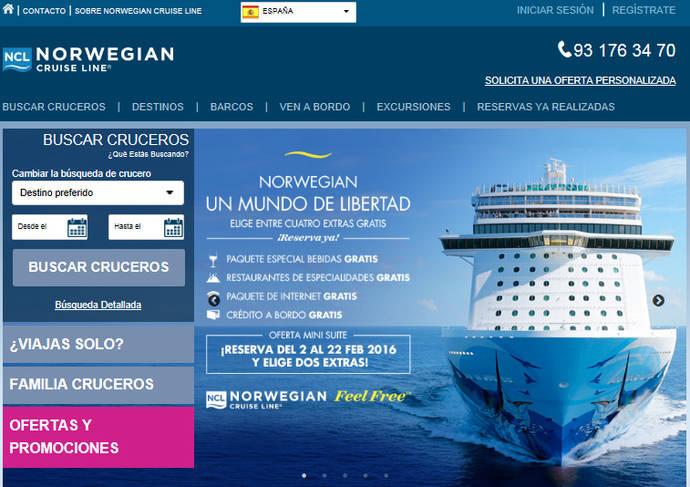 Norwegian Cruise Line lanza una nueva página web