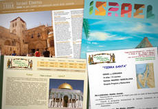 Folletos con ofertas de viajes a Israel.
