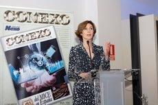 La secretaria de Estado de Turismo, Isabel Oliver, en su intervención en la cena de gala de CONEXO.
