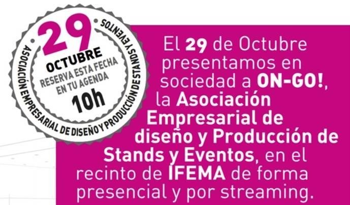 Presentación de ON-GO, el 29 de octubre, en Ifema