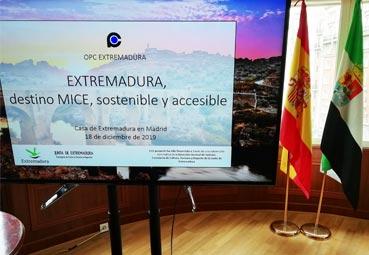 OPC Extremadura potencia su oferta MICE en Madrid