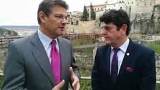 El ministro Rafael Catalá, con el director de NEXOTUR, Eugenio de Quesada.