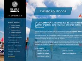 Oxygen Events presenta una nueva 'web' con su oferta