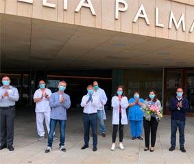 El Palacio de Palma despide a sus últimos pacientes de coronavirus