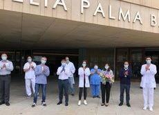 La despedida de los responsables de la 'instalación sanitaria'.