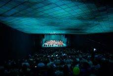El acto de inauguración del Palacio de Congresos de Villanueva de la Serena.