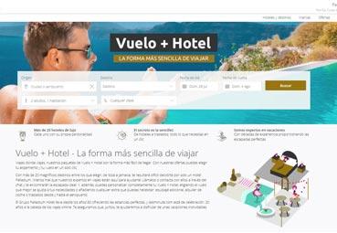 Palladium Hotel estrena la opción 'vuelo más hotel' en su página web