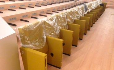 Instalan las butacas del Palacio de Congresos de Palma