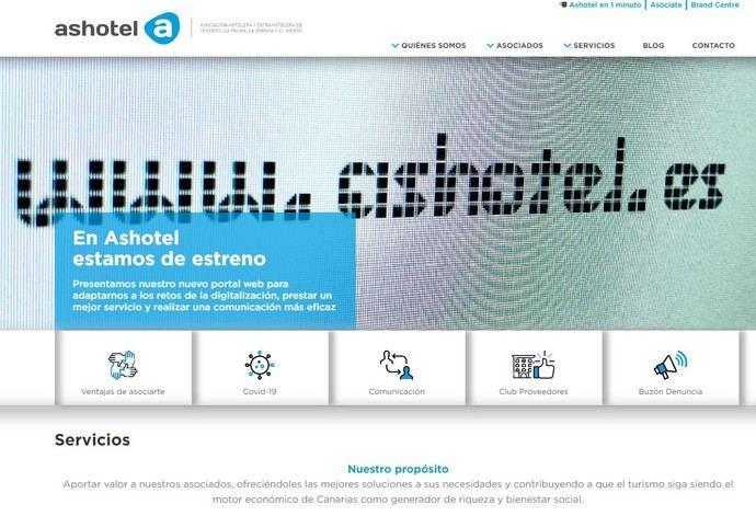 Ashotel estrena web orientada al servicio a sus asociados