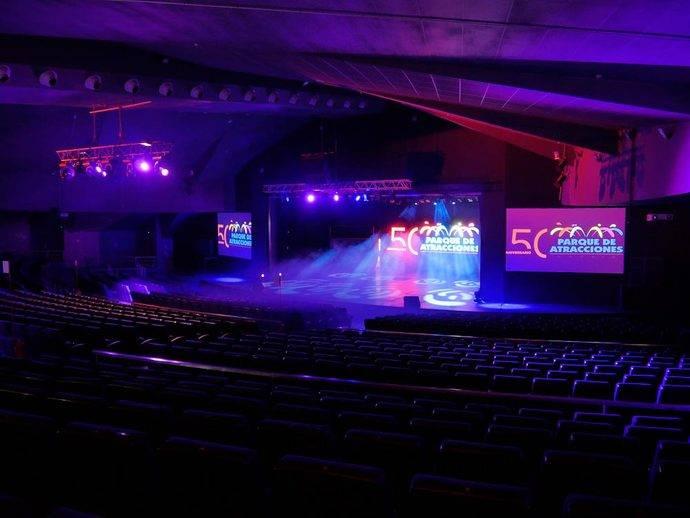 El Gran Teatro Auditorio del Parque de Atracciones de Madrid.