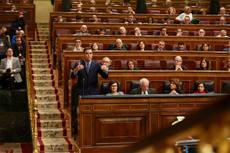 El presidente del Gobierno, Pedro Sánchez, comparece en el Congreso.