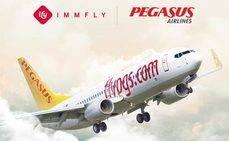 Immfly ofrecerá los servicios digitales de Pegasus Airlines