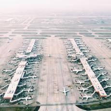 El tráfico interno de las aerolíneas chinas se ha reducido un 83,6%.
