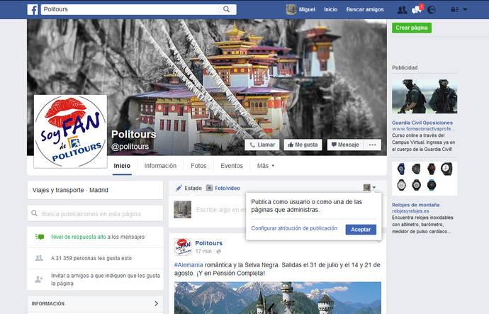 Politours llega a los 30.000 seguidores en Facebook