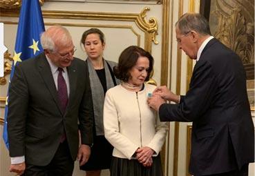 Dolores Tomás es galardonada por la Federación Rusa