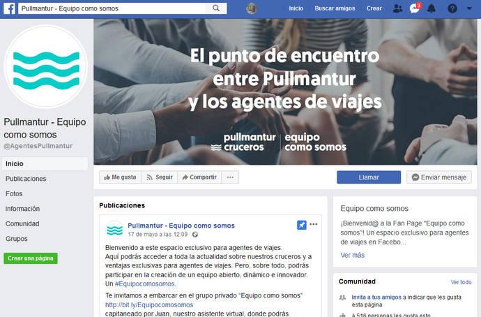Pullmantur estrecha lazos con agencias vía Facebook