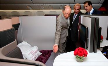 Qatar Airways presenta un asiento con cama doble