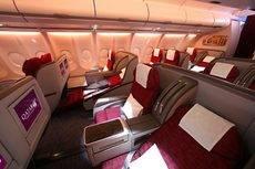 La Clase Business de Qatar Airways.